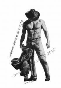 Nanas Art Promotion Strength Of A Cowboy